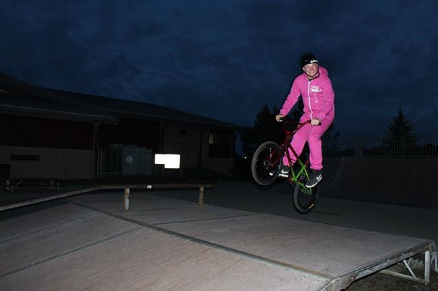 Team rider @jordancgrabowski starting to ride again after his big injury awhile back can't wait till he is back and killing it here is a good shot of him at his local park rocking the @tmobile suit #bmx #tmobile