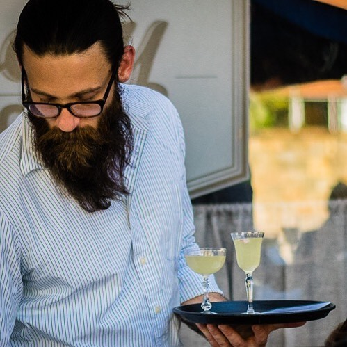 Elegant cocktails and impressive beards @miserylovescovt  #Winooski #bartender #craftcocktails #cocktailwalk #beardstyle