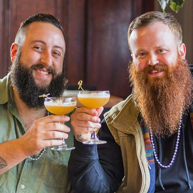 Fun to have both distillers from @appgapdistill on Cocktail Walk. They make some amazing spirits. And beards. Cheers guys!