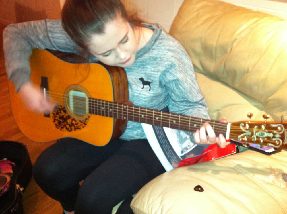 My student and her new Blueridge guitar! A great instrument for the price!