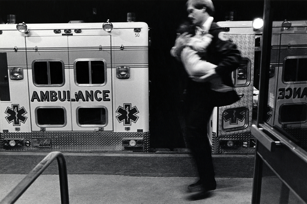 Running child into the ER  Denver General Hospital Denver, CO.  1985