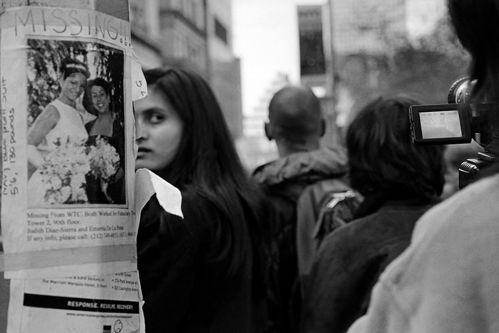 Onlookers on Broadway  New York, NY.  2001