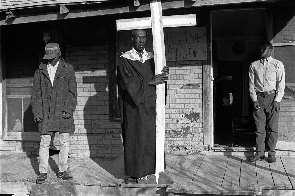 Reverend Landers and his congregation  Rawlinson, AR.  1969