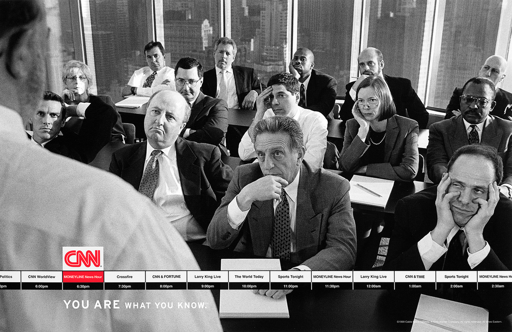"CNN ""You are what you know"" Campaign  Hill Holliday, Boston 1999"