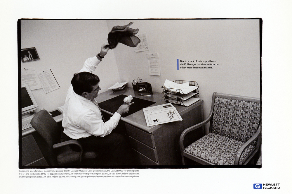 HP LaserJet Campaign  Goodby, Silverstein & Partners, San Francisco 1998