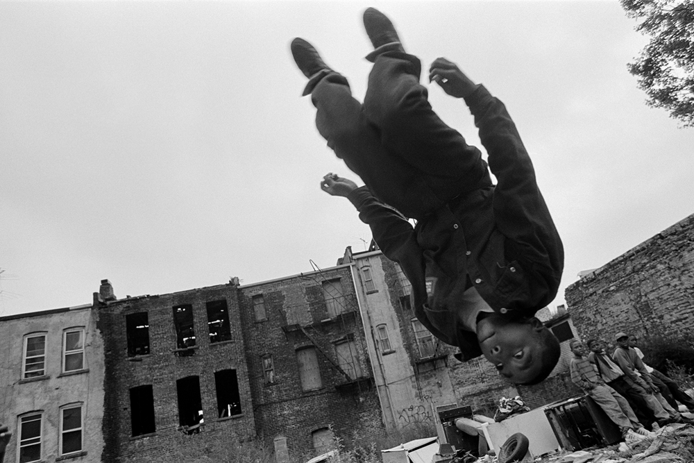 Flipping boy  East New York, NY.  1992