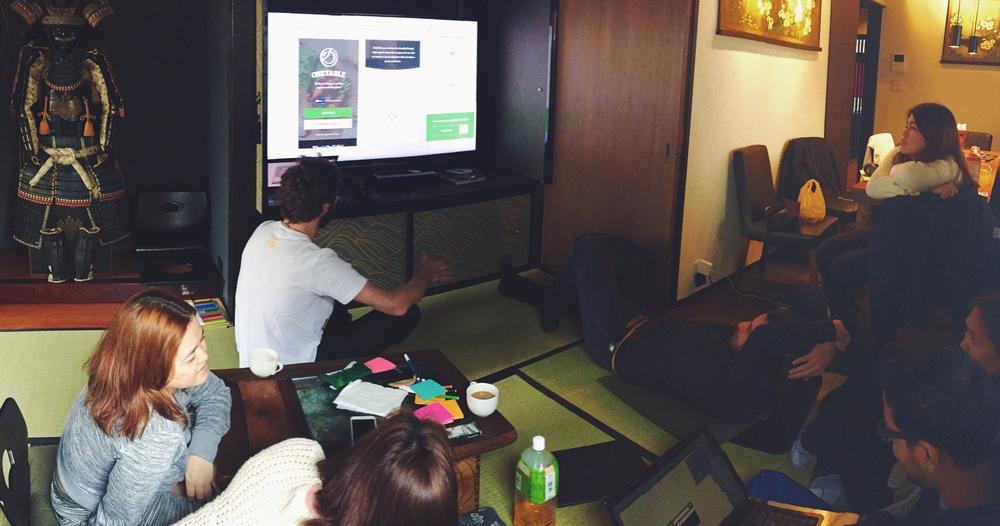 Team meeting.