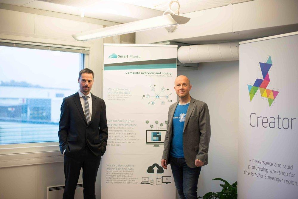 CEO Sjur Usken and CTO Jon Rasmussen