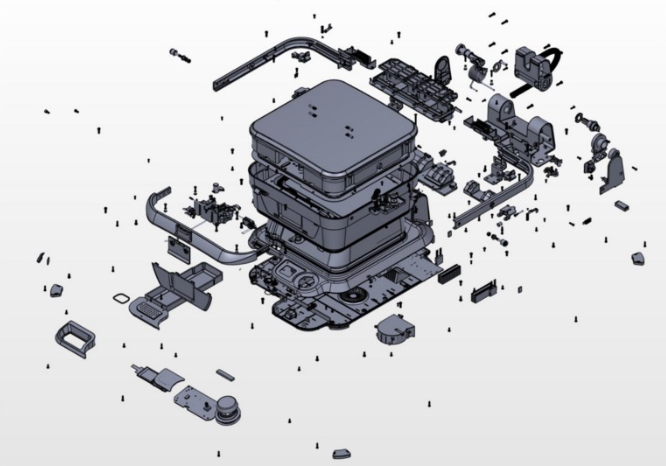 Exploded CAD view of Cinder Cooker