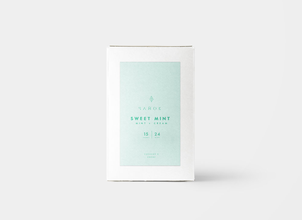 sweet mint chayok tea packaging