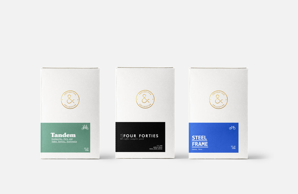San Diego coffee box design packaging minimal modern colors