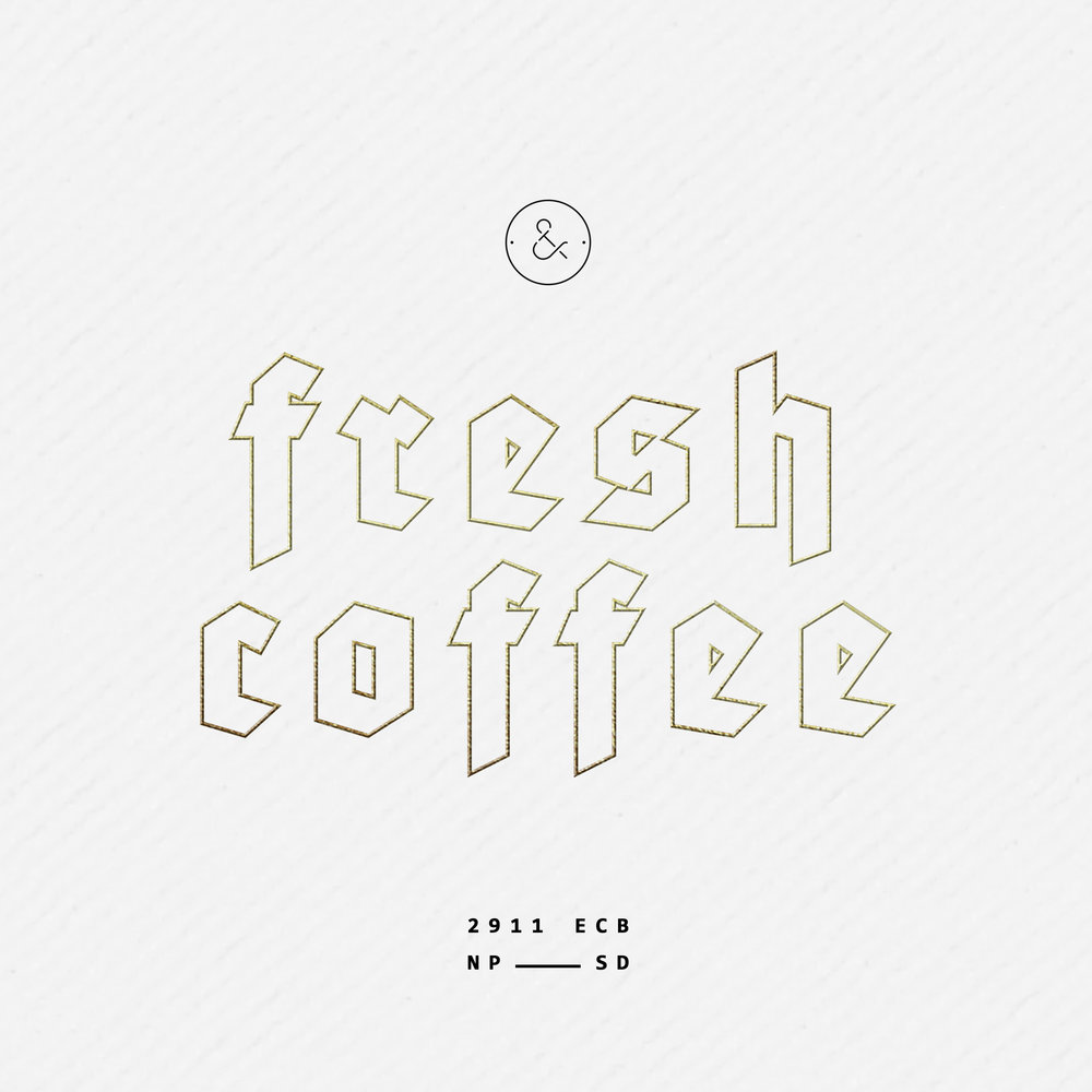 fresh coffee box design gold foil packaging minimal modern monochrome