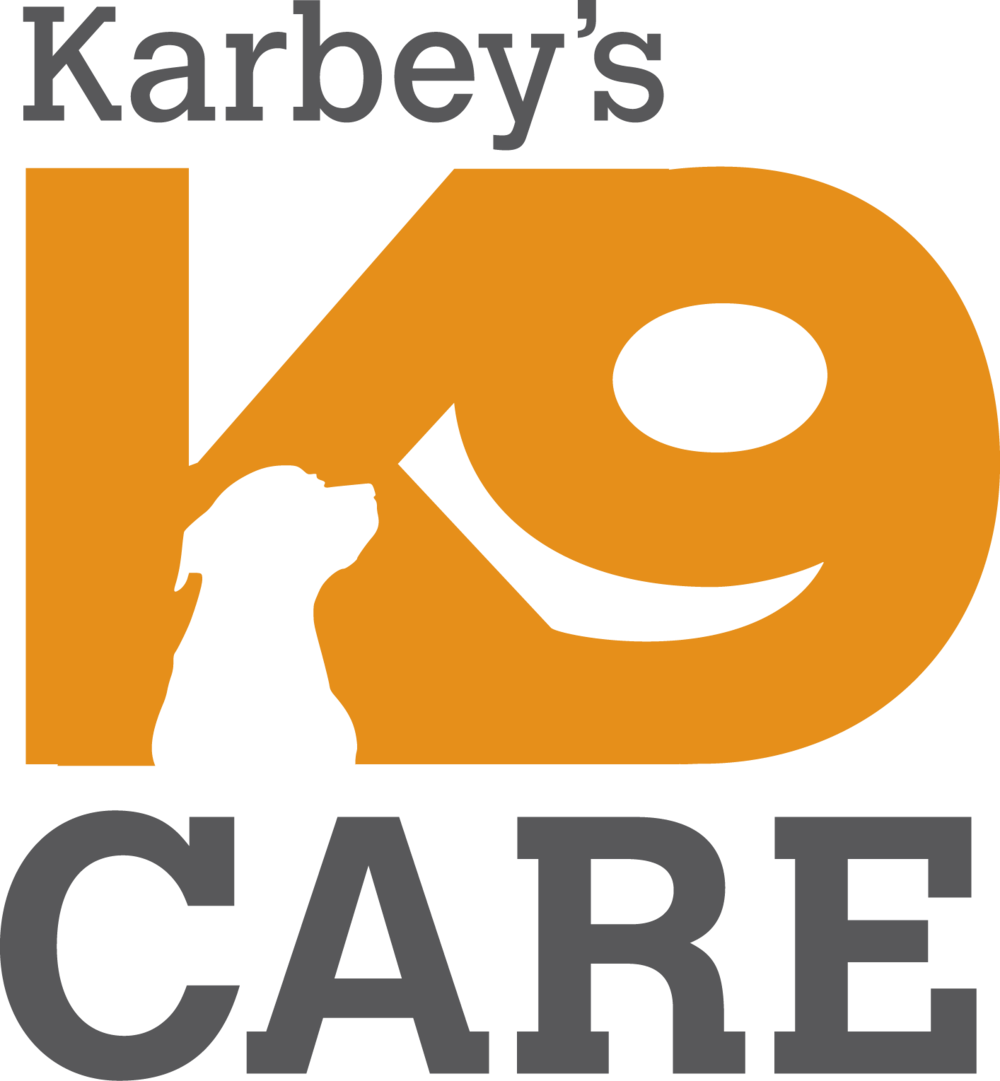 "Karbey's K9 Care is my latest logo design, art directed by Isabelle Mercier who said, ""Great job on this…. This is what I meant by clean, simple, clever logo…. This is a 'for life' logo. I'm totally thrilled with that."""