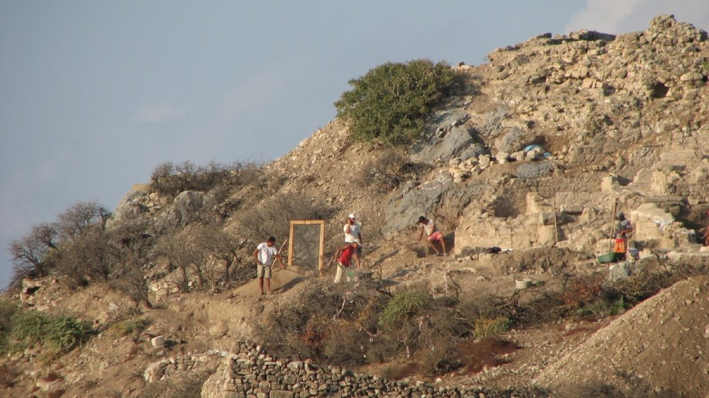 This dig was on a cliff overlooking a harbor town in Turkey. I didn't make it over there, but I was dying to know what they were looking for!