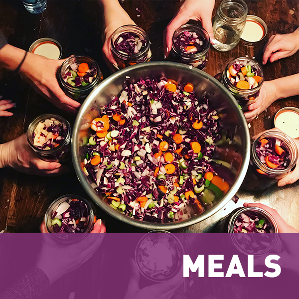 MEALS    We are what we eat. Let's find solutions to preparing meals, digestion, fermentation, nutrients, sneaking in veggies, mindful eating and everything in between.
