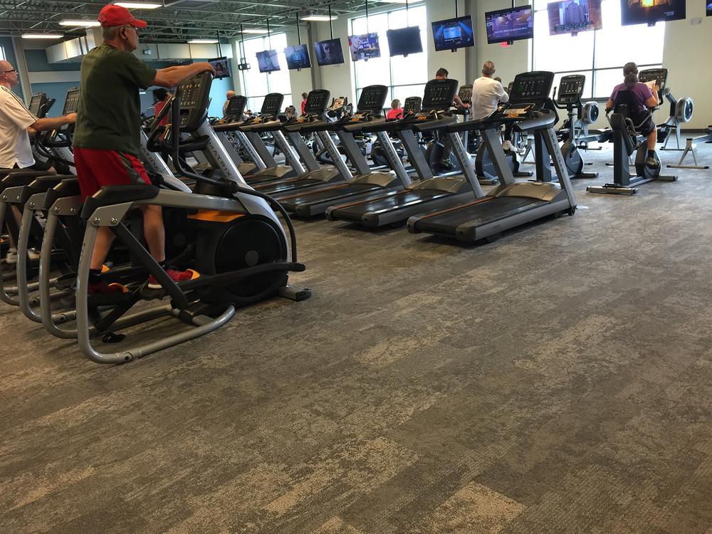 Fitness Flooring - Rubber, Wood, Mats, Tracks, Linoleum, Carpet by Nike Grind, Everlast & More
