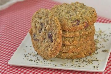 Chia Oatmeal Cookies