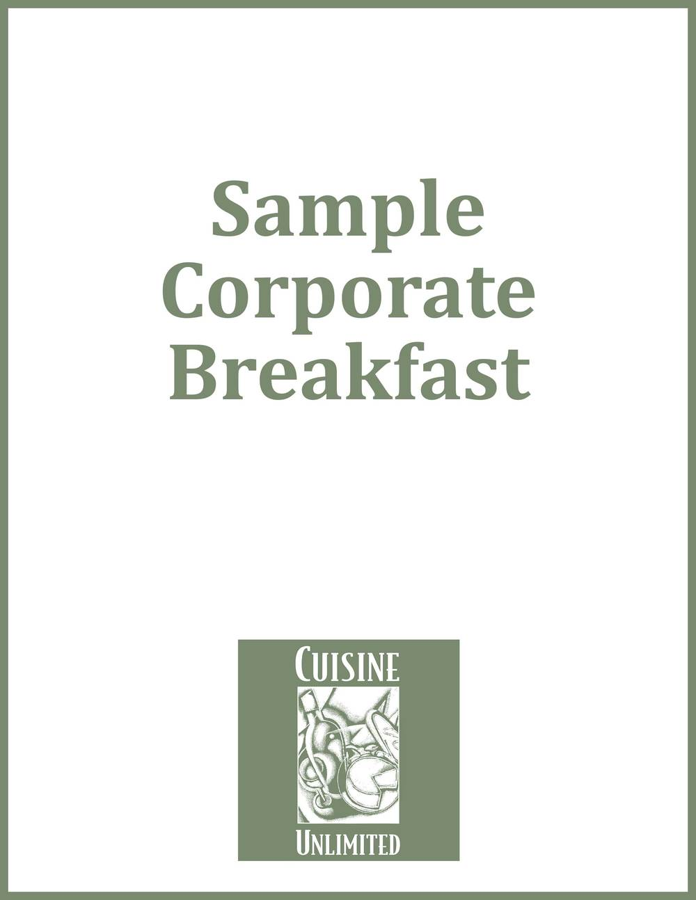 Sample Corporate Breakfast