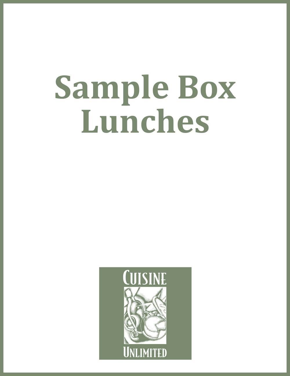 Sample Box Lunches