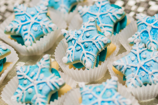 Snowflake Shortbread Cookie Sandwiches