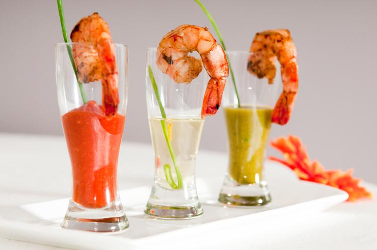 Sriracha Shrimp Shooters