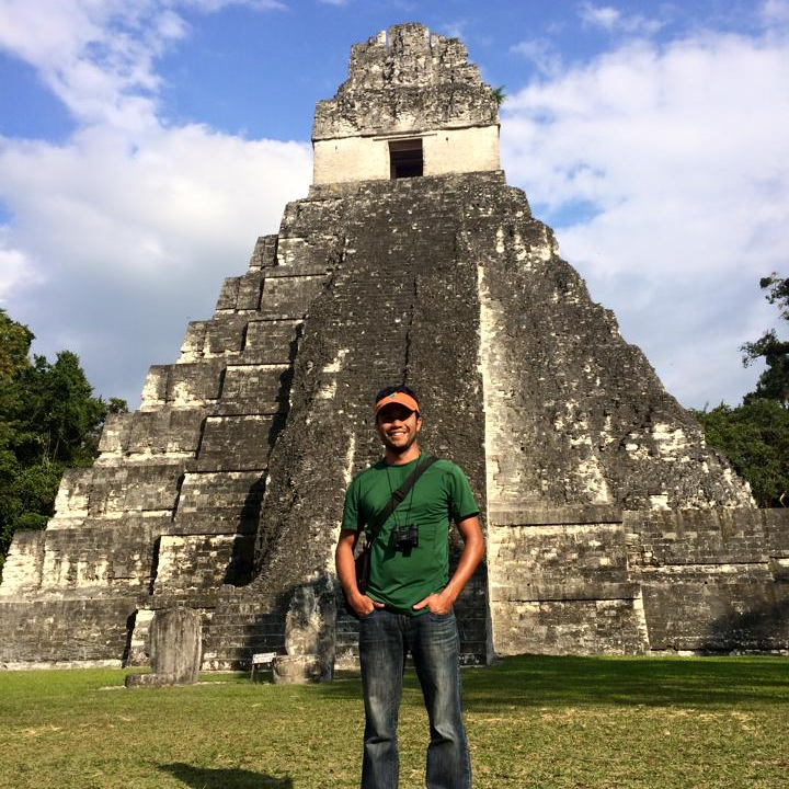 Noe at the Mayan ruins Tikal