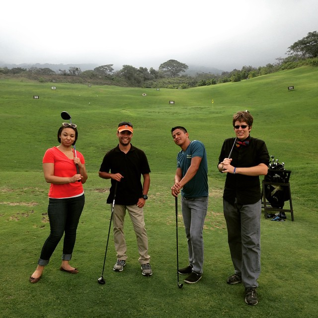Golfing at the foot of Volcan Fuego