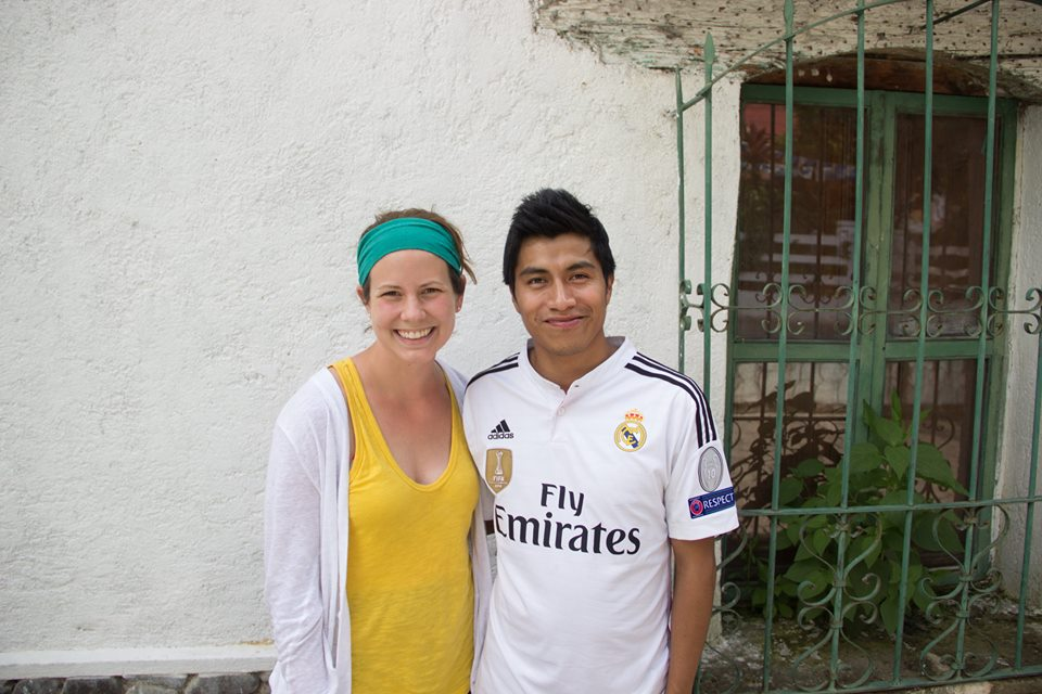 Jessie with a member of our Honduras missions team