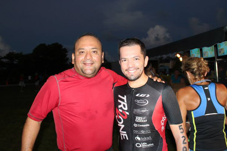 My cousin Luchosh, attempting his first triathlon!