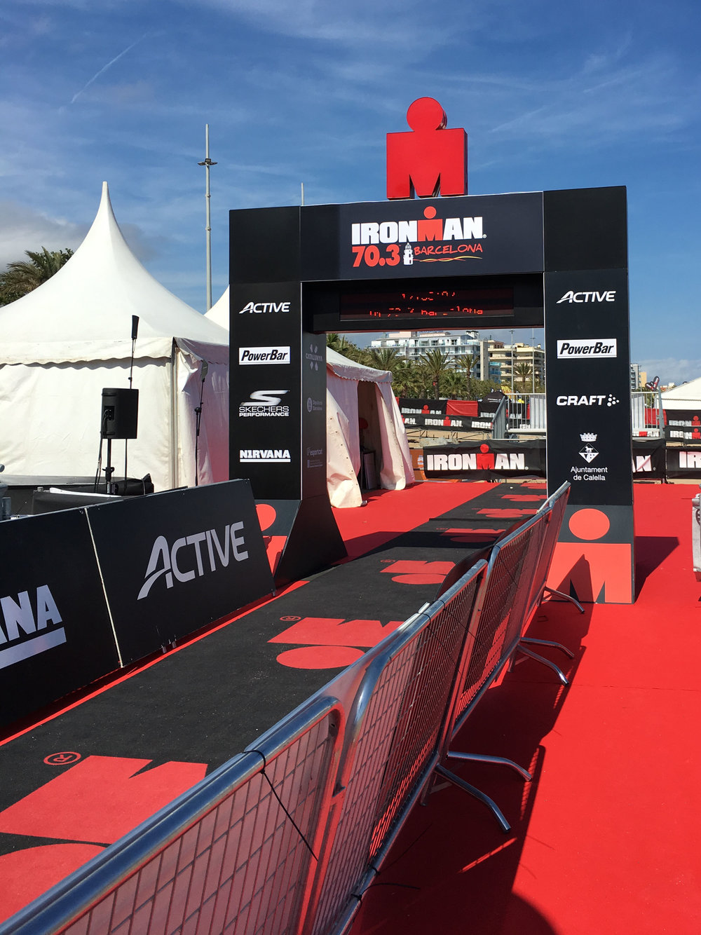 Checking out the Ironman 70.3 Barcelona