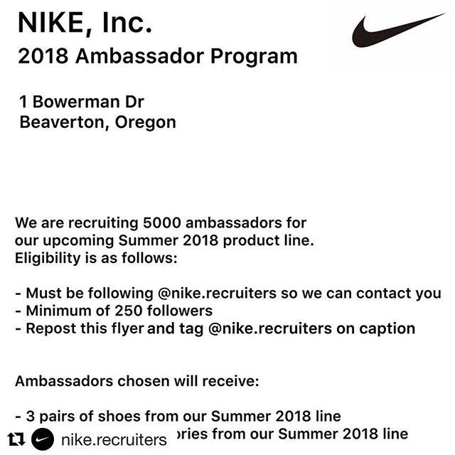 Favorite brand! Team Nike 💪💪💪 @nike.recruiters