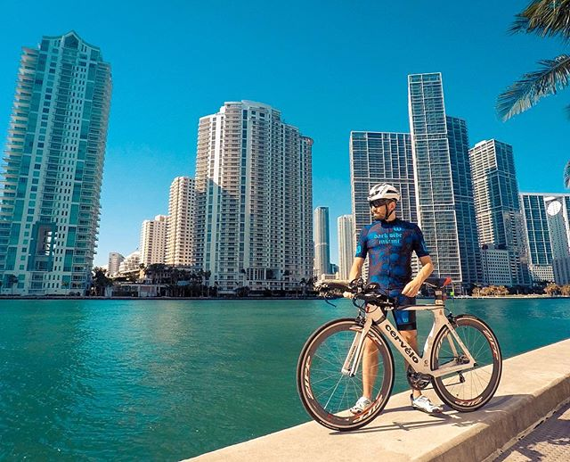The Magic City ☀️ ************************************ #bike #cycling #training #miami #triathlon #ironman #pandakick #road2ironman #betoworldwide #gopro