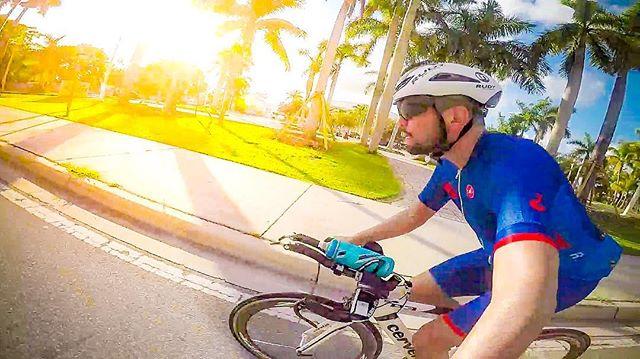 Officially back to training ☠️. ************************************ #bike #cycling #training #miami #triathlon #ironman #pandakick #road2ironman #betoworldwide #gopro #gopandago