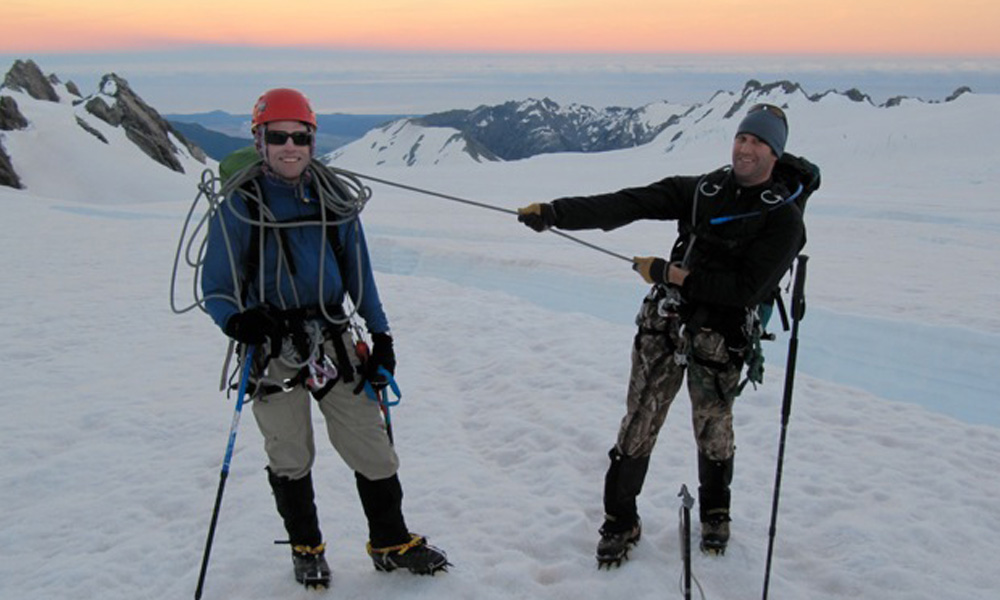 Leaning the ropes with Alpine Guides.