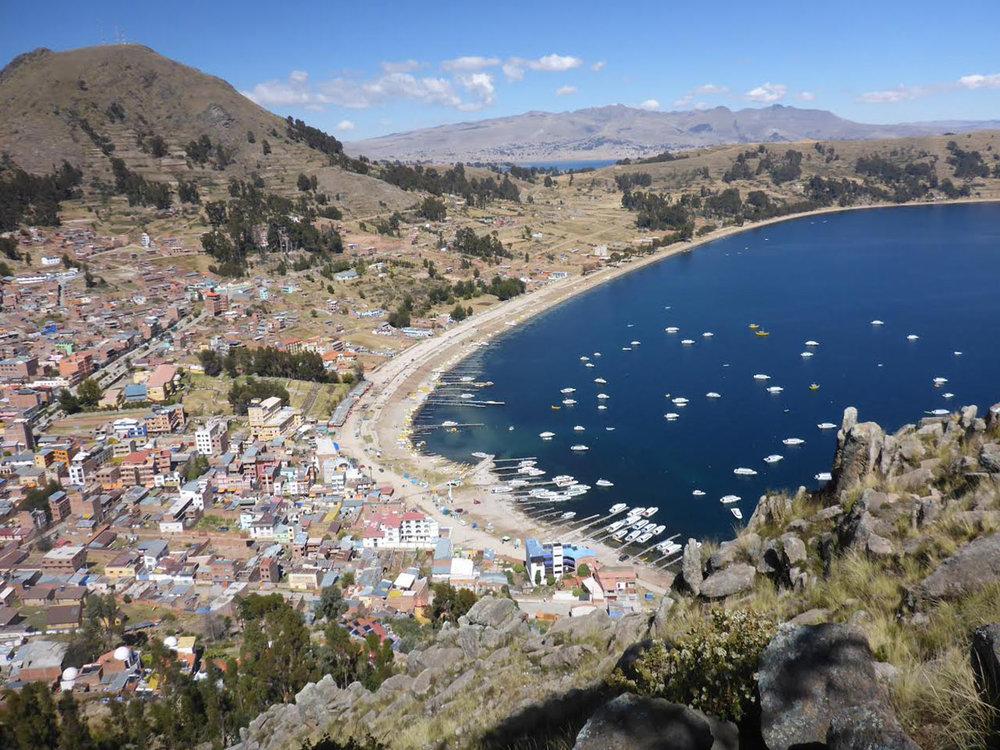 Copacabana on Lake Titicaca.