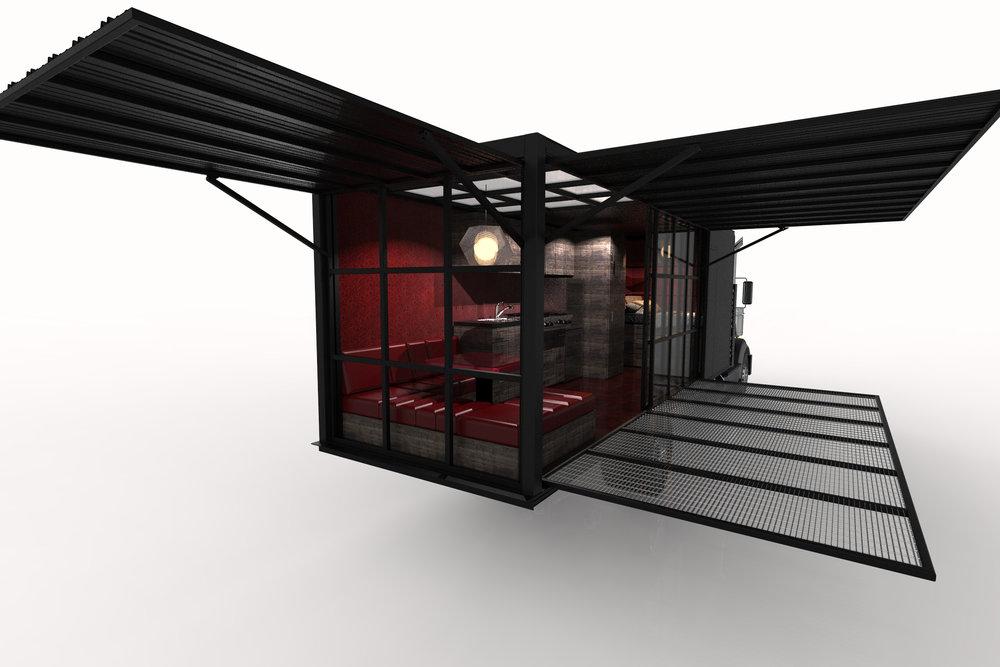 Box truck House open