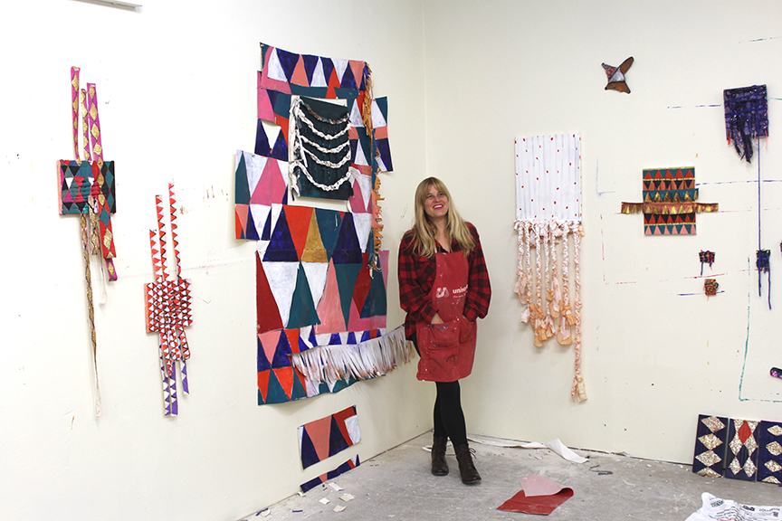 Gyan in her studio in Fairfield, Iowa.