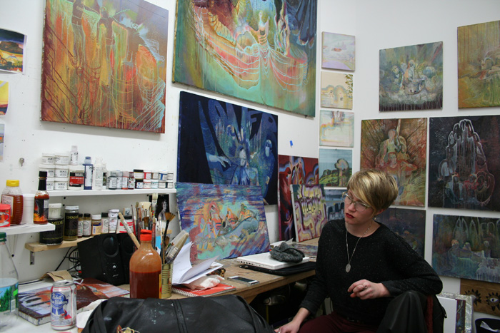 Jen in her studio in Brooklyn.
