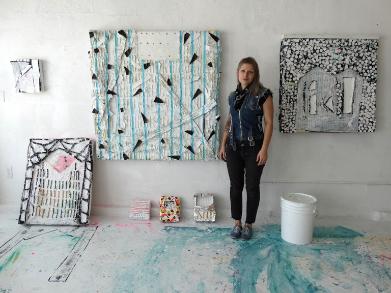 Mandy Lyn in her studio in Los Angeles.