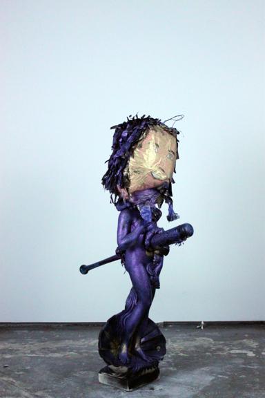 Crossfit, 2014, Plaster figurine, baseball bat, piñata