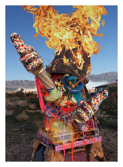 Pile Fire, 2015, Print