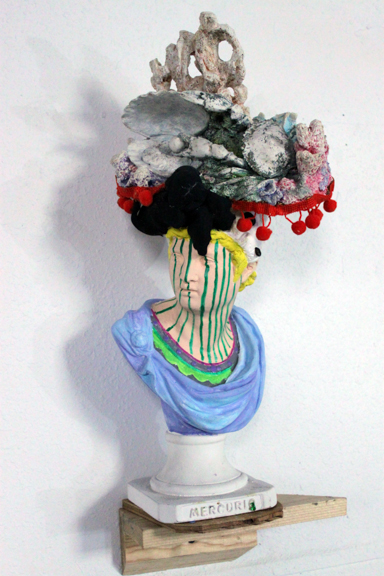 You Have Something in Your Hair, 2015, Figurine, foam, acrylic