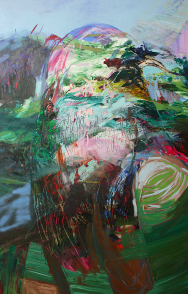 Selfie, 2014, Oil and acrylic on canvas, 42 x 66 inches