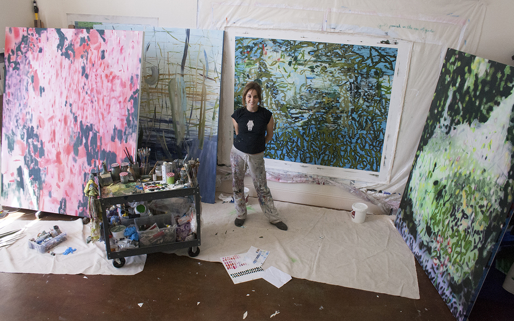 Emma in her live/work studio space in Oakland, California