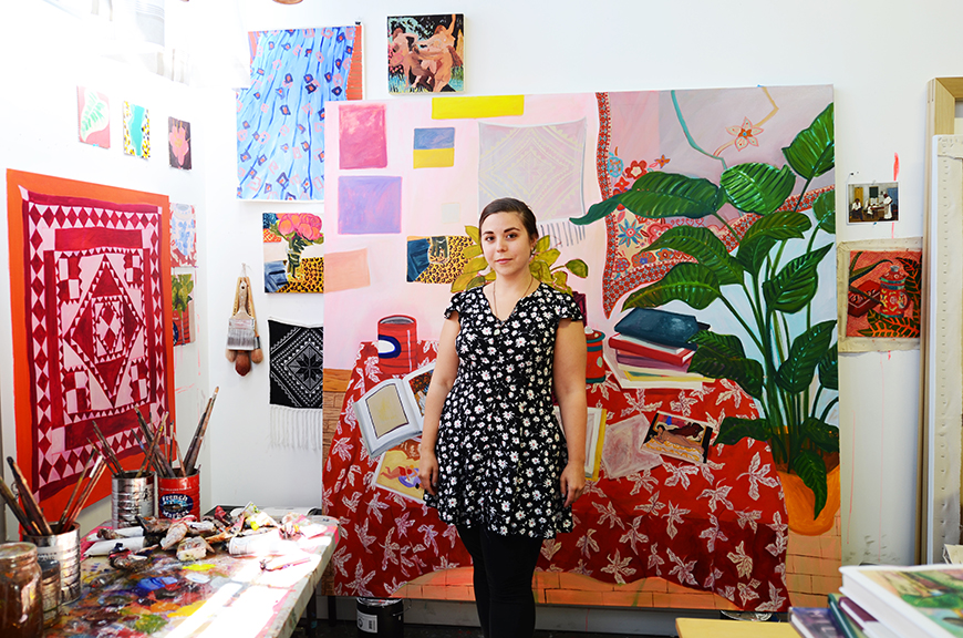 Anna in her studio in Oakland, California