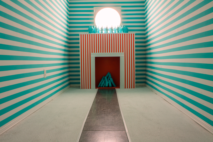 Fancy Room, 2012, Paint, wood, plaster, sound, 16' x 6 'x 10'