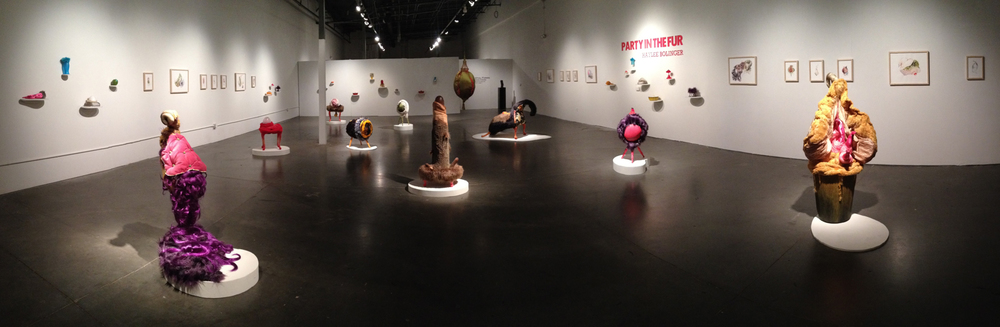 "Panorama of solo exhibition ""Party in the Fur"", Night Gallery; Tempe AZ, 2014"