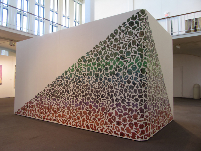 Typical Volcano, 2014, Acrylic on adhesive vinyl, 7.5 feet x 20 feet