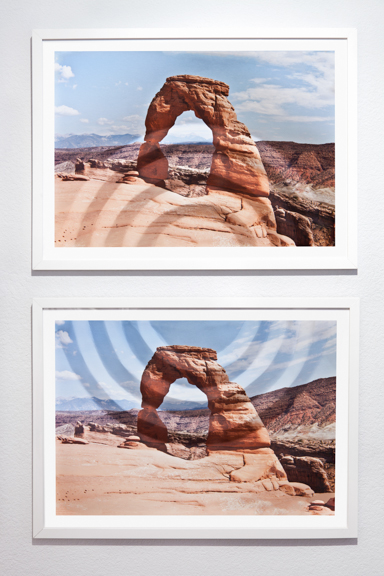 Mountains + Valleys (Arches, Diptych) 16 x 22.75 inches each // 18 x 24.75 inches framed // 39 x 24.75 inches total dimensions Archival Digital Prints 2013