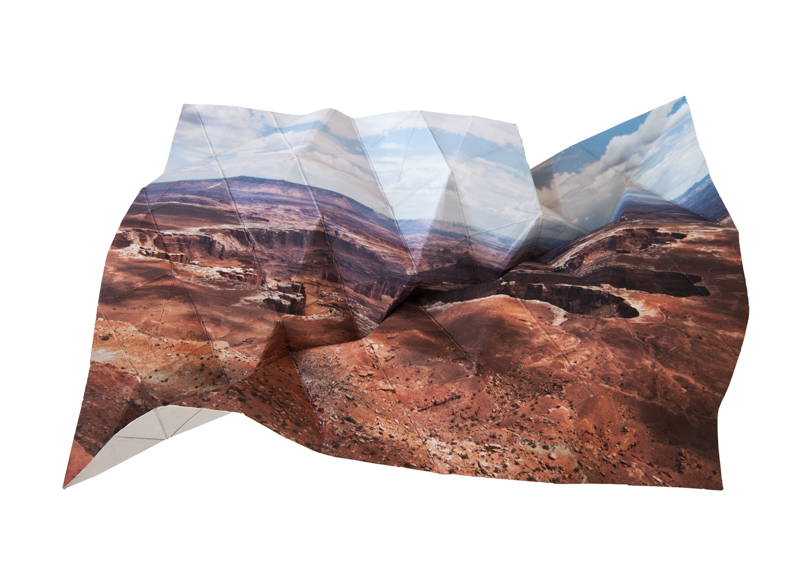 Mountains + Valleys (Canyonlands National Park #1) 17.75 x 25.75 inches // 19.75 x 27.5 inches framed Archival Digital Print 2013